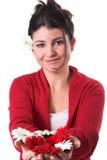 blommor som ut rymmer Fotografering för Bildbyråer