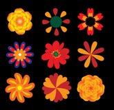 blommor ställde in vektorn Arkivbild