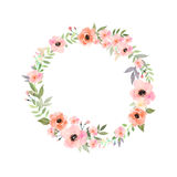 blommor ställde in vektorn Elegant blom- samling med leav Royaltyfria Bilder
