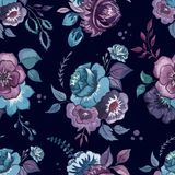 Blommor vattenfärg, modell, tapet, textil Arkivbilder