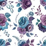 Blommor vattenfärg, modell, tapet, textil Royaltyfri Bild