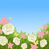 Blommorna i trädgården Arkivbilder