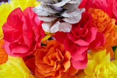 Blommorna som göras av papper fotografering för bildbyråer
