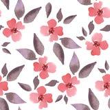 blomning Blom- bakgrund för vattenfärg 1 seamless modell Royaltyfri Bild