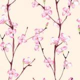 blomning seamless blom- modell 3 stock illustrationer