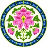 blomningkines stock illustrationer