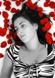 blomningkvinna Royaltyfri Bild