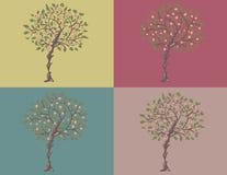 blomningtree vektor illustrationer