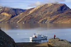 Blomsterbugten - fiordo di Franz Joseph - la Groenlandia immagini stock libere da diritti