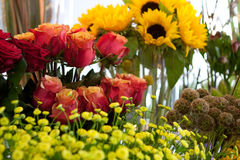 blomsterhandel Royaltyfri Foto