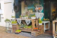 Blomsterhandel i Gorinchem. Royaltyfri Fotografi