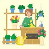 Blomsterhandelillustration fotografering för bildbyråer