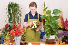 blomsterhandlare Arkivfoto