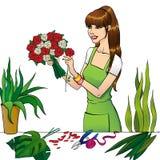 Blomsterhandlareflickan Royaltyfri Fotografi