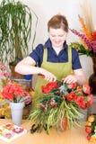 blomsterhandlaren shoppar Arkivfoto