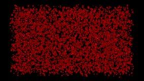 Blomsterrabatt - matta av röda Rose Petals Animation Background Inklusive alfabetisk kanal vektor illustrationer
