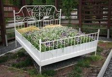 blomsterrabattparadis Royaltyfria Bilder