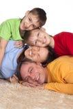 blomstra mattfamilj Arkivbild