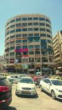 Blomstrande köpcentrum i Nablus royaltyfri fotografi