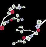 blomstrar Cherryet stock illustrationer