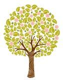 blomtree stock illustrationer