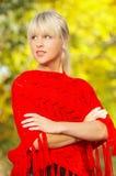Blond à l'extérieur Images stock