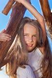 blond ślicznej dziewczyny włosiany mały długi Zdjęcia Royalty Free