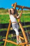 blond ślicznej dziewczyny włosiany mały długi Obrazy Royalty Free