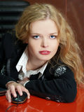 blond affärsflickastående Royaltyfri Bild