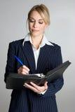 blond affärskvinna Royaltyfri Bild