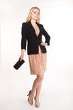 Blond affärskvinna för härligt mode Arkivfoto