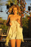 Blond in Afternoon Sunlight Royalty Free Stock Photography
