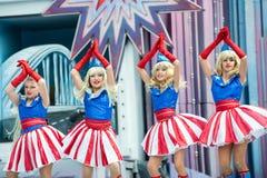 Blond Amerykańskie dziewczyny obrazy royalty free