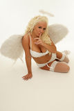 Blond angel Stock Image
