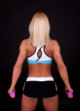 Blond athlete from  behind Stock Photos