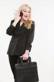 Blond atrakcyjny caucasian bizneswoman Zdjęcie Stock