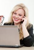 Blond attractive caucasian businesswoman stock photography