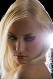 Blond auf Schwarzem Stockbilder