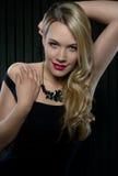 Blond auf Schwarzem Lizenzfreie Stockfotografie