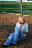 Blond auf Spielplatz 3 Lizenzfreies Stockbild