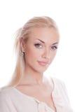 Blond auf Weiß Lizenzfreies Stockbild