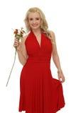 Blond avec des fleurs Image libre de droits