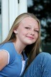 Blond avec des taches de rousseur photographie stock libre de droits
