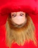 Blond avec les yeux étranges Photographie stock