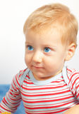 Blond baby boy Stock Image