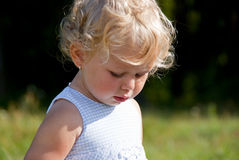 Blond baby girl Royalty Free Stock Photo