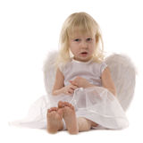 Blond baby girl Stock Photos