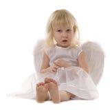 Blond baby girl Stock Photos