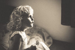 Blond baby girl Royalty Free Stock Image