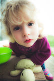 Blond baby girl Royalty Free Stock Images